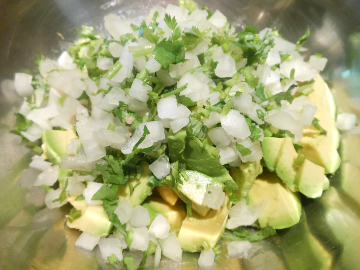 Add 1/2 a cup finely chopped white onion.
