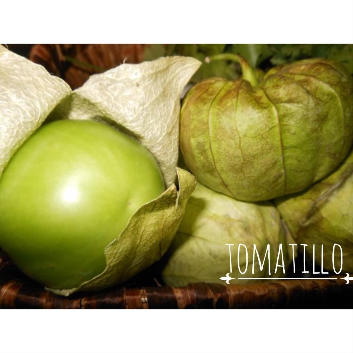 The tomatillo (toe-ma-tea-o) originally comes from Mexico