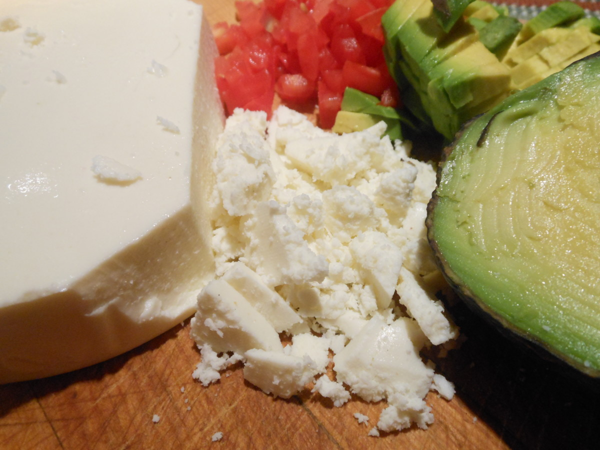 Queso fresco, tomato and avocado are common ingredients found in chalupas. They also keep the flavors light and fresh.