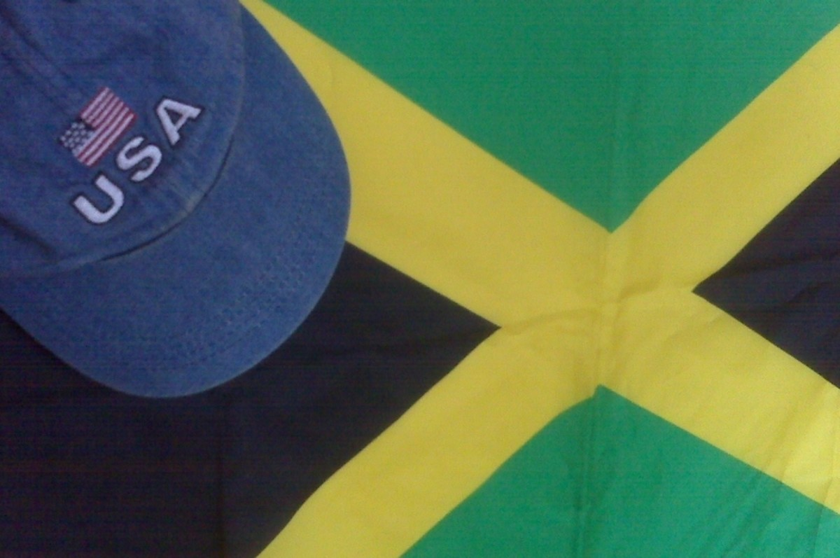 My cap and flag are symbols of my Jamaican-American heritage.