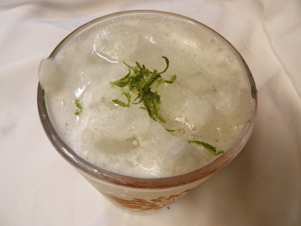 Limeade with Lime Zest Garnish