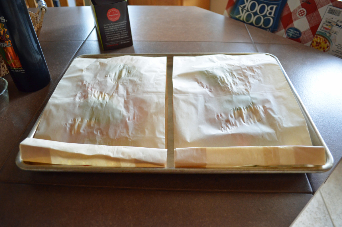 Place 2 bags on cookie sheet or jelly roll pan.