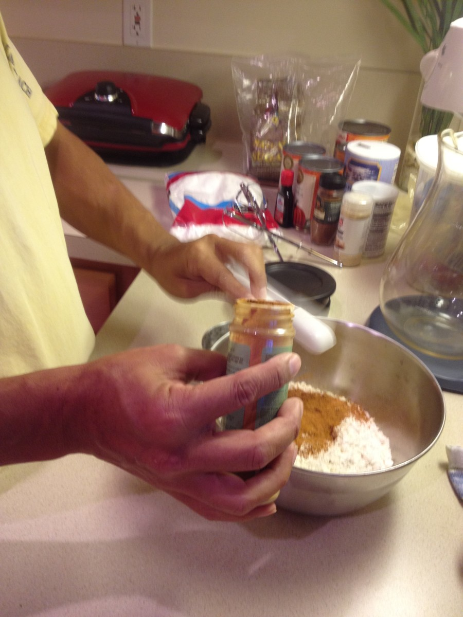 Adding the cinnamon and nutmeg gives the cakes a spicy flavor.