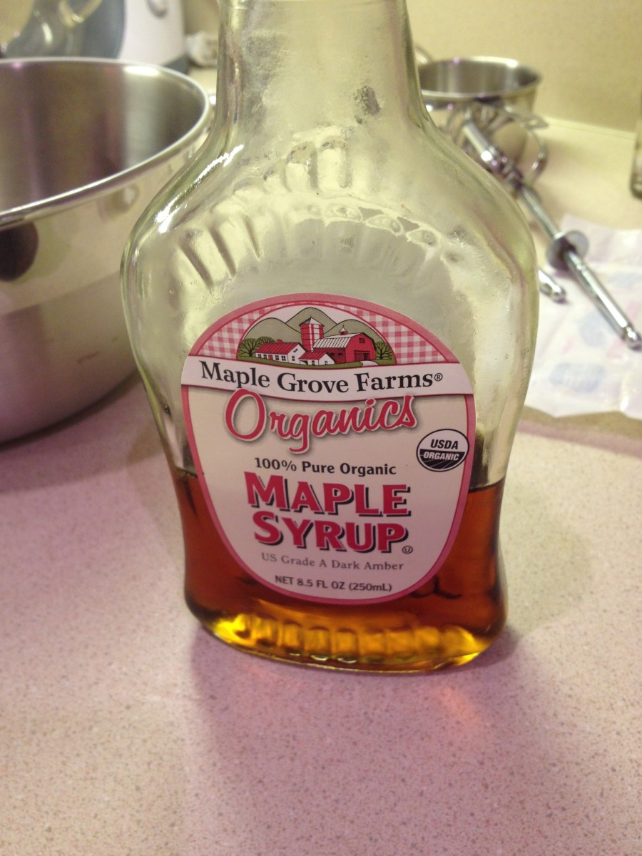 Add the syrup. Using organic maple syrup makes the taste more natural.