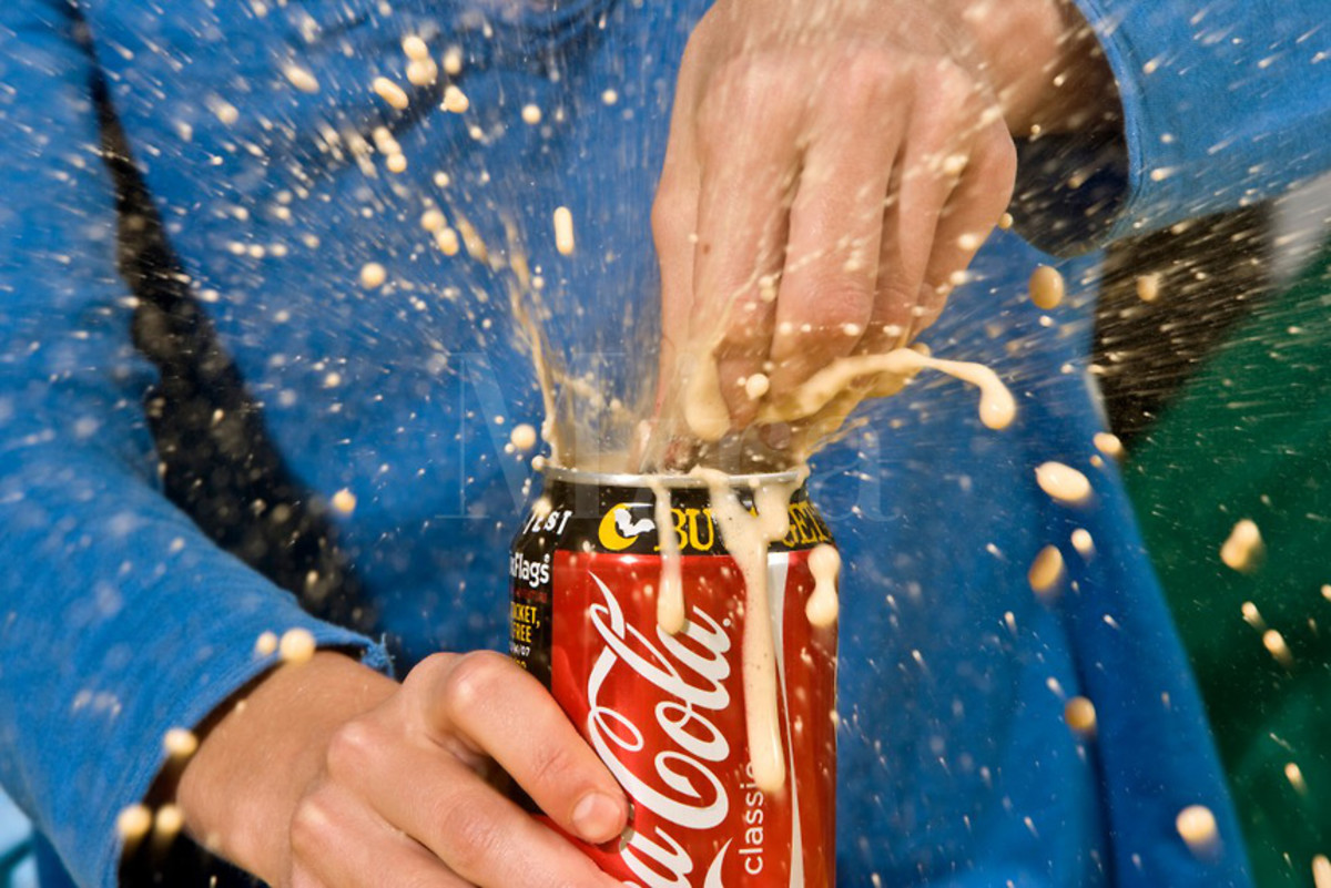 We've all been the victim of a soda can explosion at some point in our lives.
