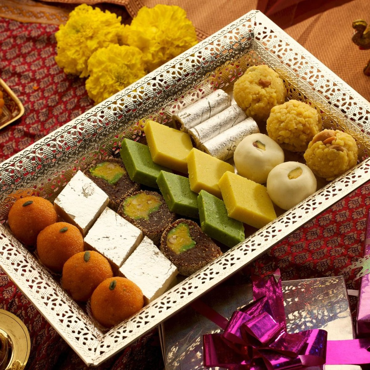 An assorted sweets box
