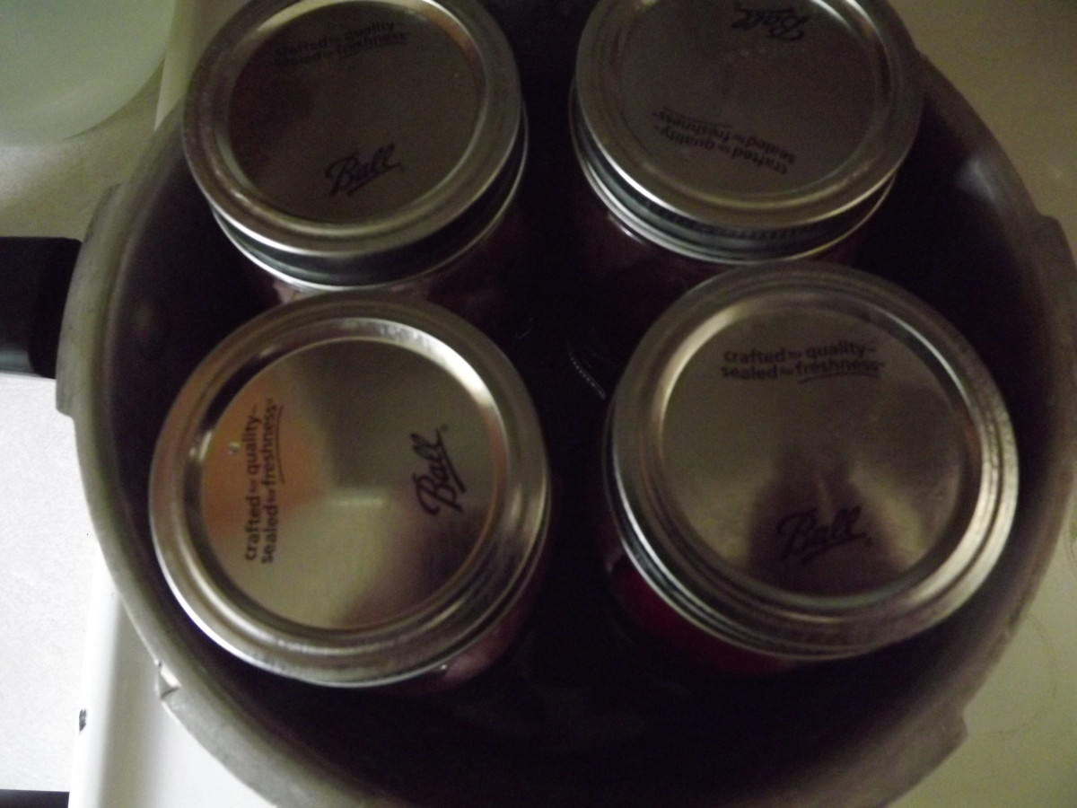 Place jars in a pressure canner.