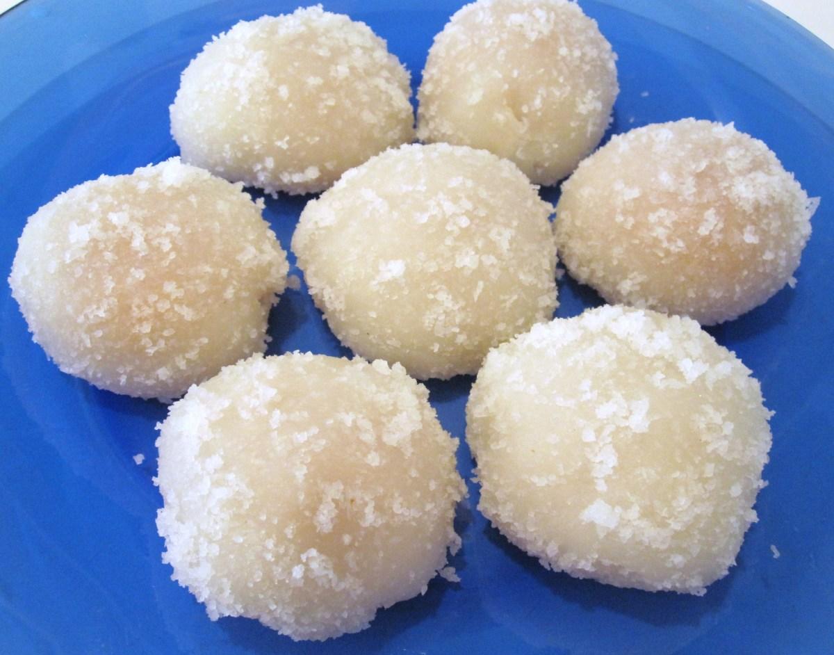 Coconut and Tropical Peach Mochi
