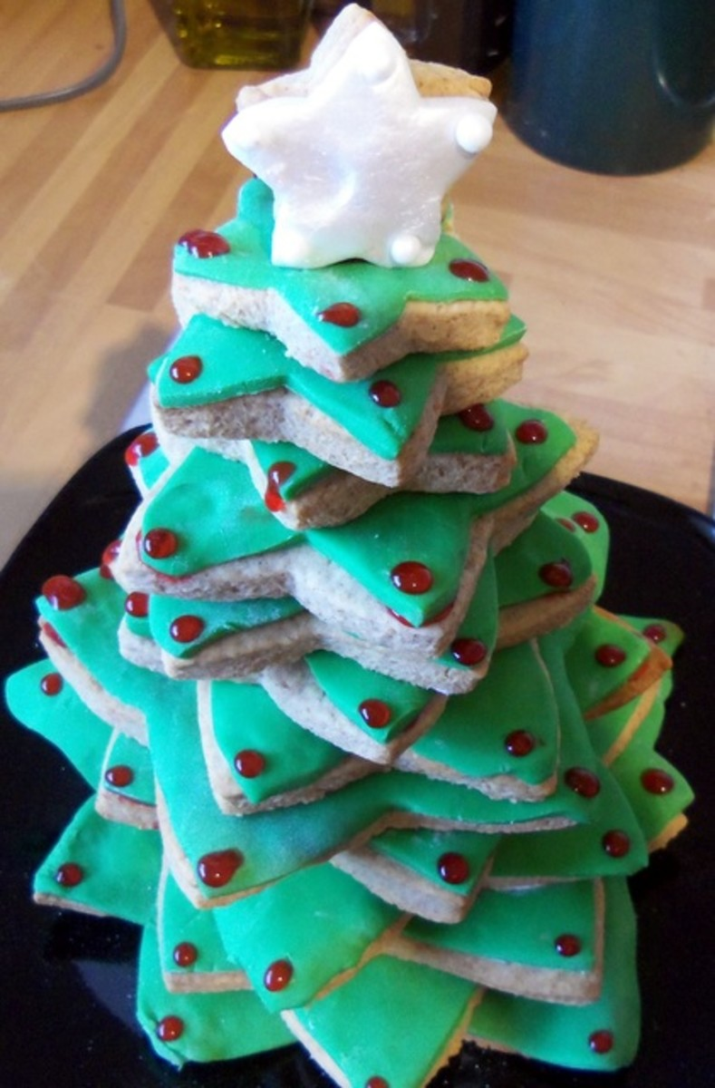 The finished 3D Christmas Cookie Tree