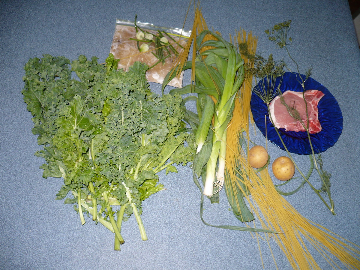 Ingredients used for soup.