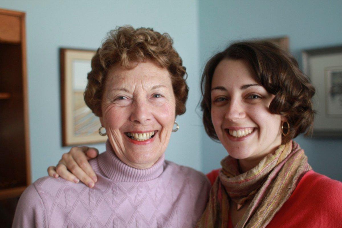 My wonderful Grandma, who makes wonderful vegetarian stuffing... and wonderful everything!