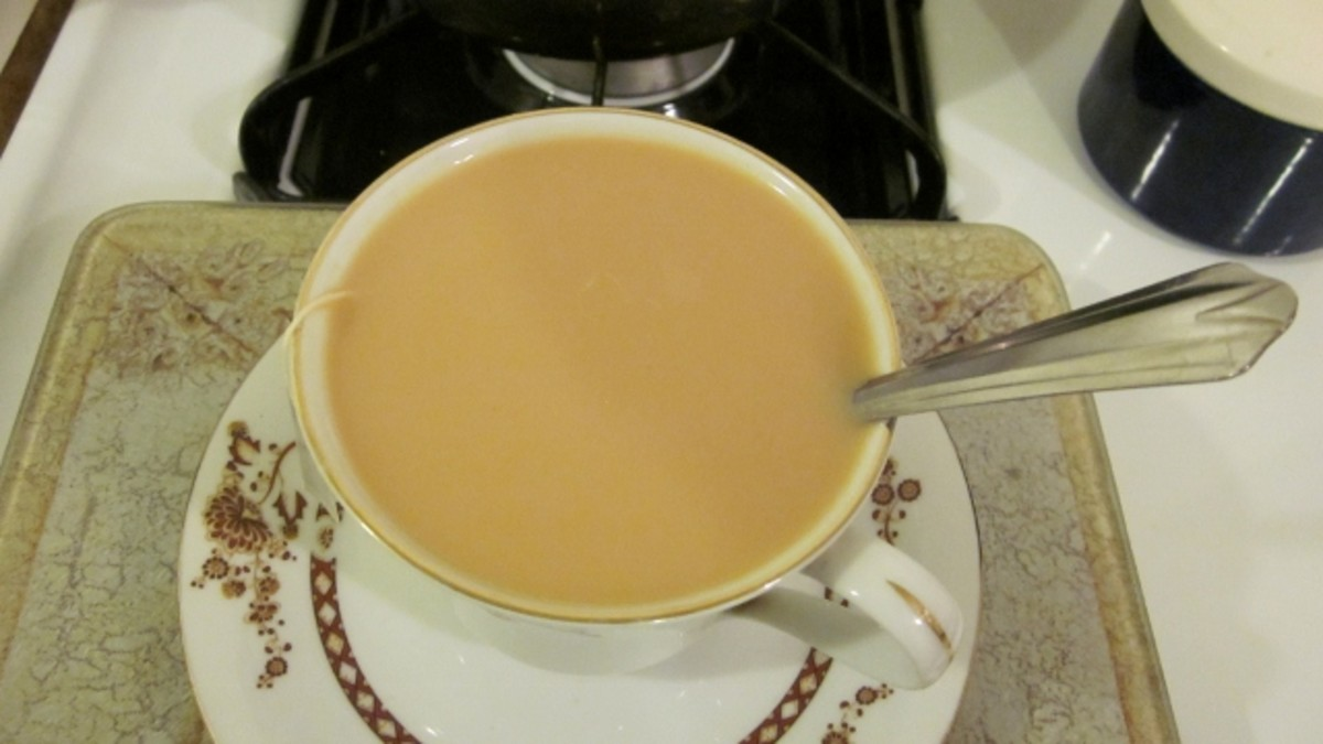 Tea with milk is a stress outlet for me, sometimes up to 3 cups a day.