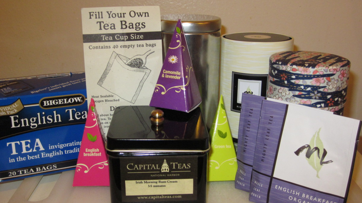 Assorted teas are essential to have on hand to give the tea lover a variety of choices.
