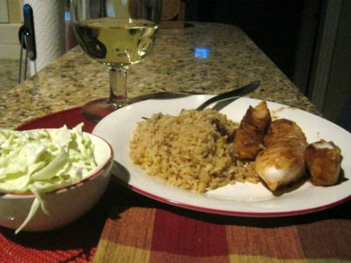 Serve the completed rice pilaf with the main dish.