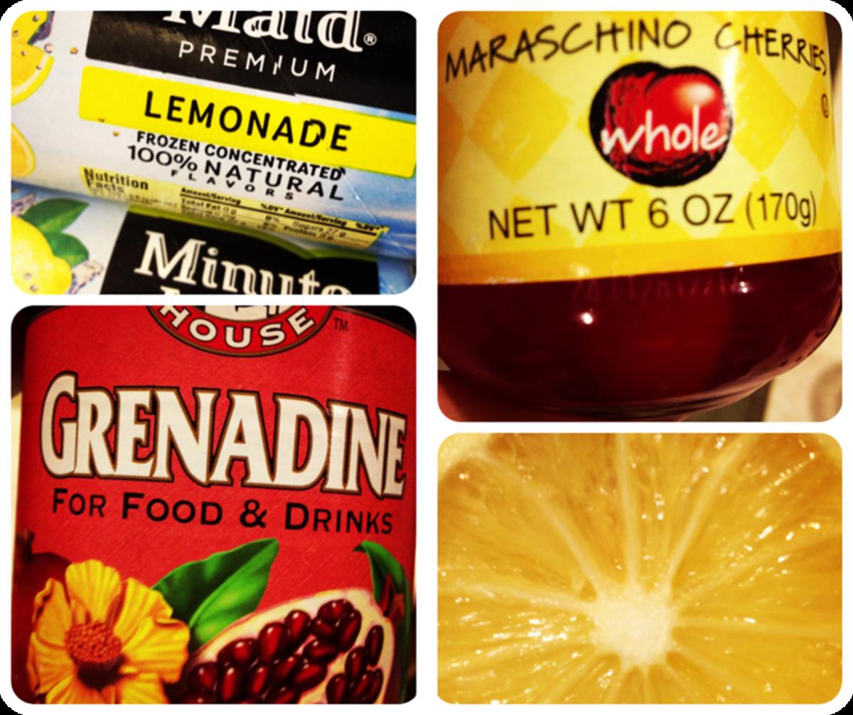 Shirley Temple Lemonade Ingredients