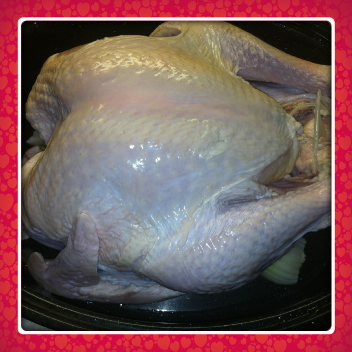 Turkey is now ready to be stuffed.
