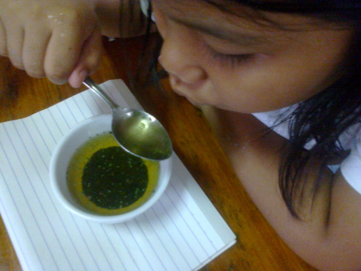 Maria loving Malunggay Tea.