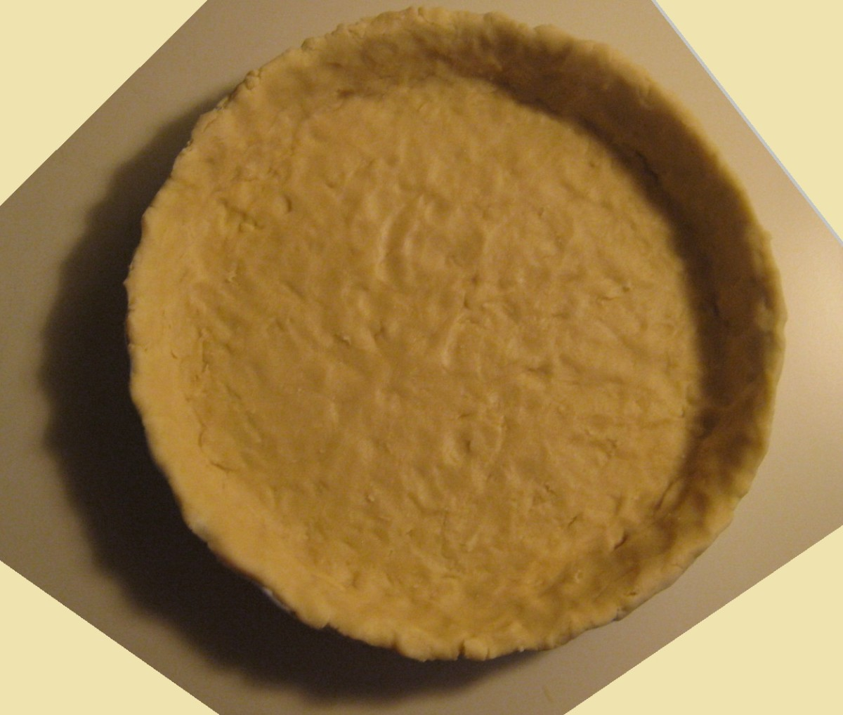 Easy pie crust from scratch that does not require refrigeration