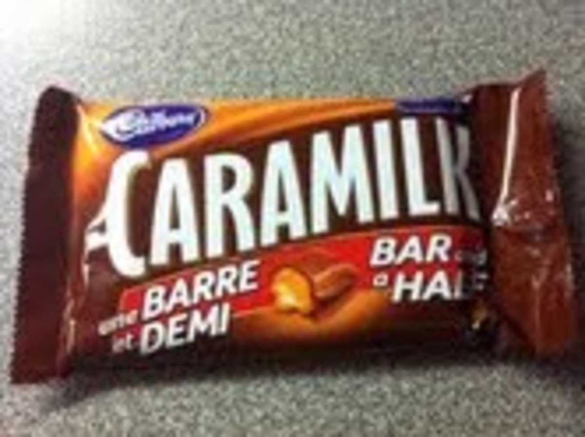 I found bar and a half Caramilk Bars, so I only needed 3.