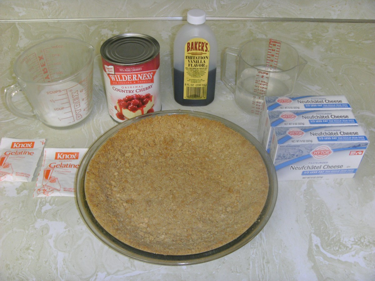 Ingredients for the cheesecake.