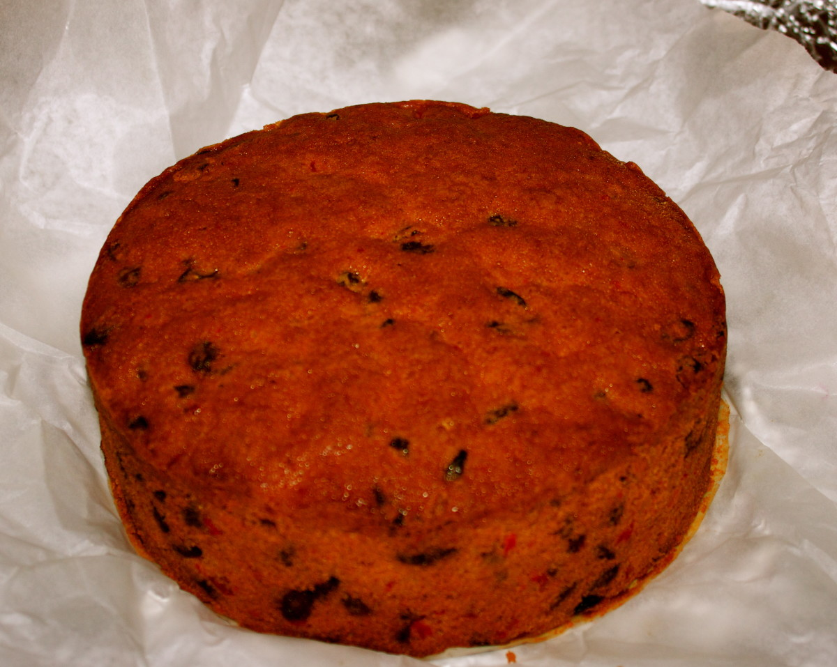 Delicious Fruit Christmas Cake