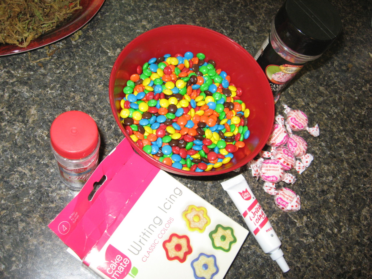 Decorate with nuts, sprinkles, icing, crushed peppermints, or small candies.