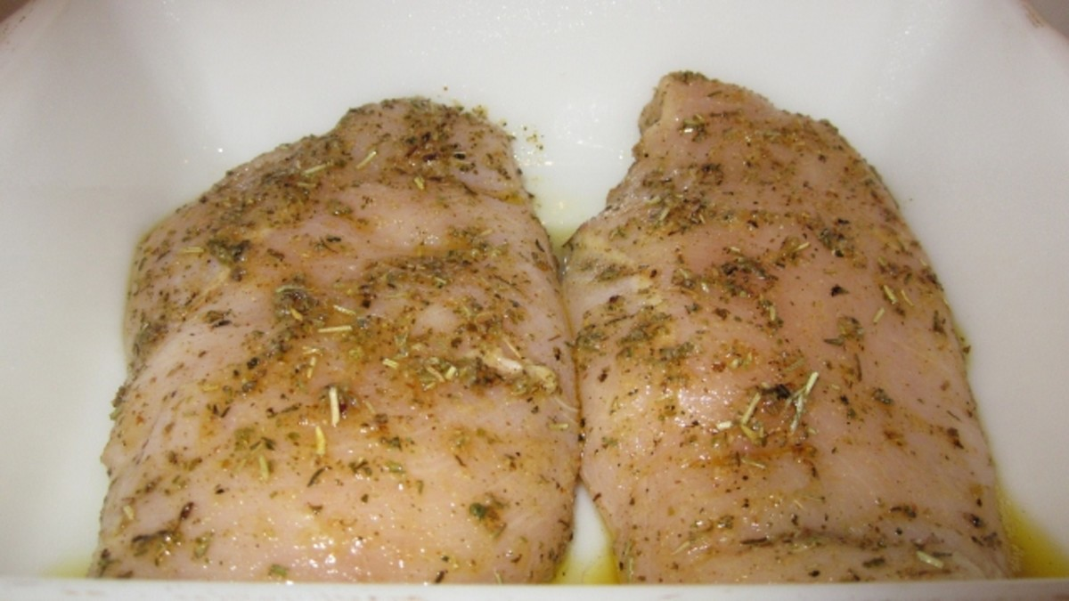Well-seasoned chicken breast is the key to tenderness and flavor.
