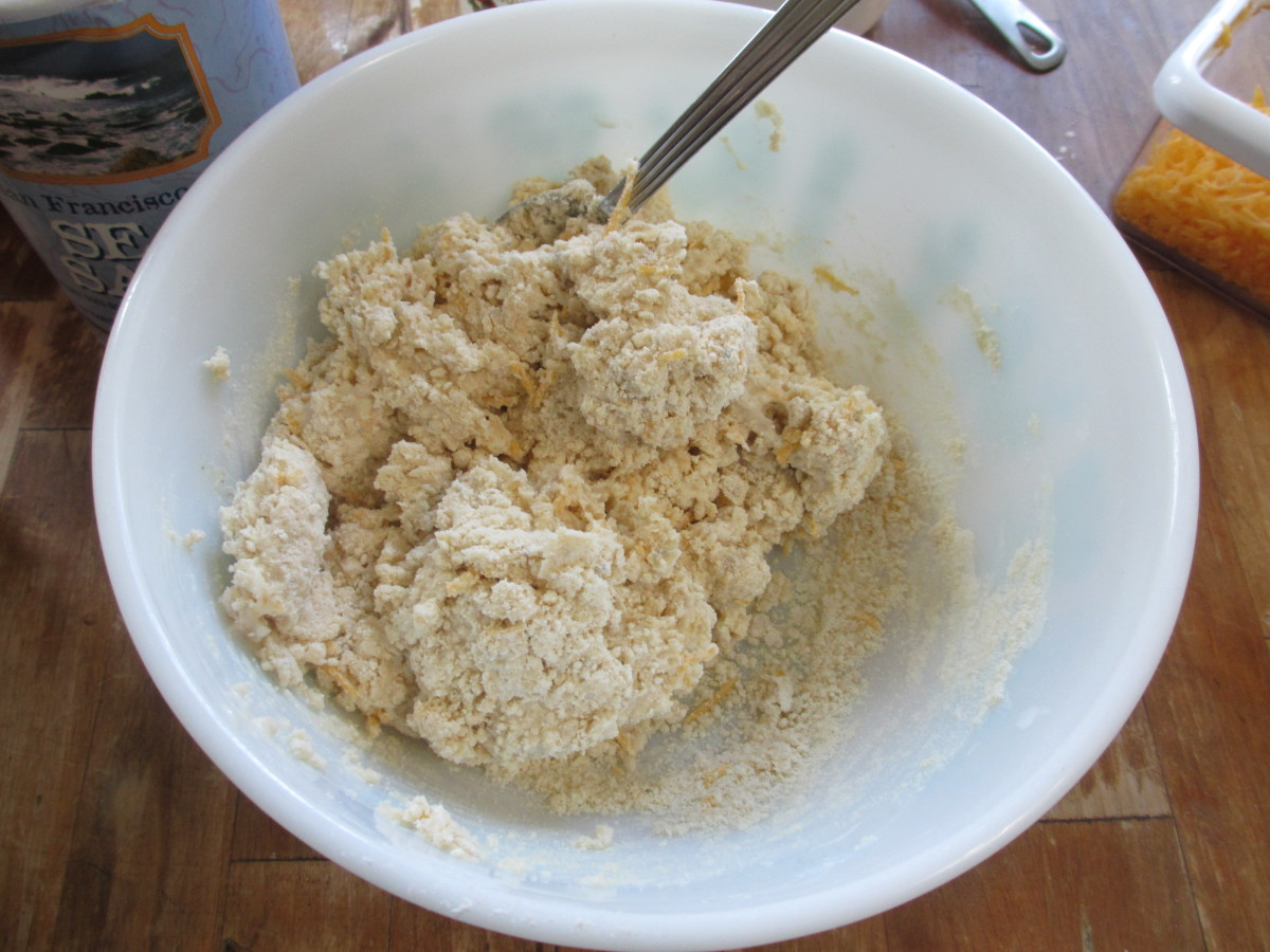 Stir until all the flour is moistened.