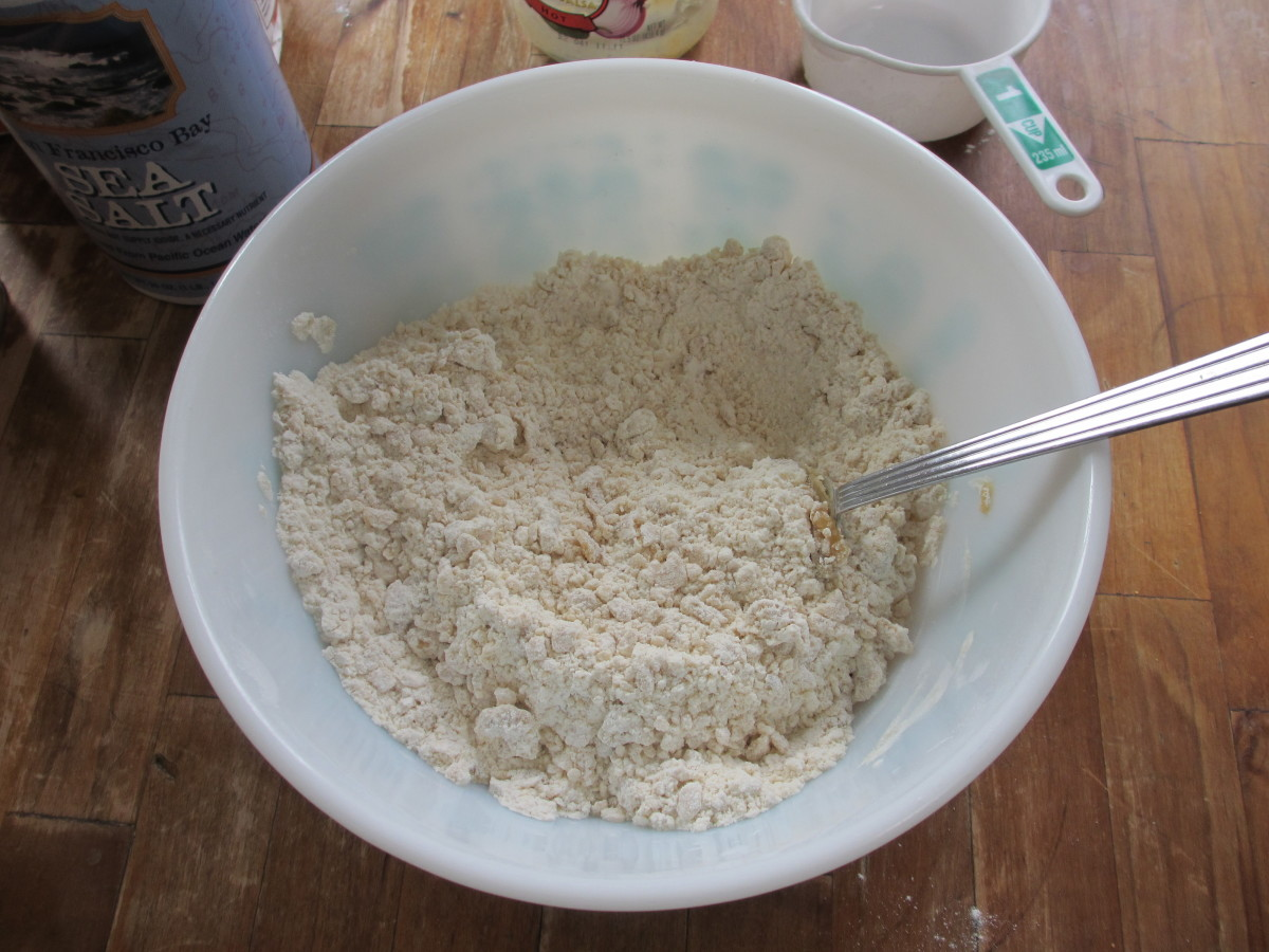 Stir until the mixture is crumbly-textured.