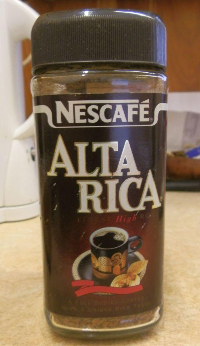 Jar of Nescafe Alta Rica Instant Coffee