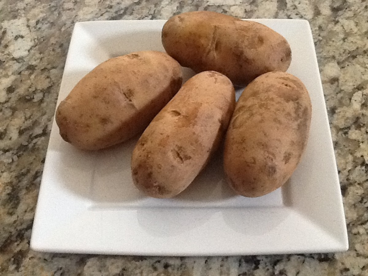 Choose Russet potatoes that are medium-sized.