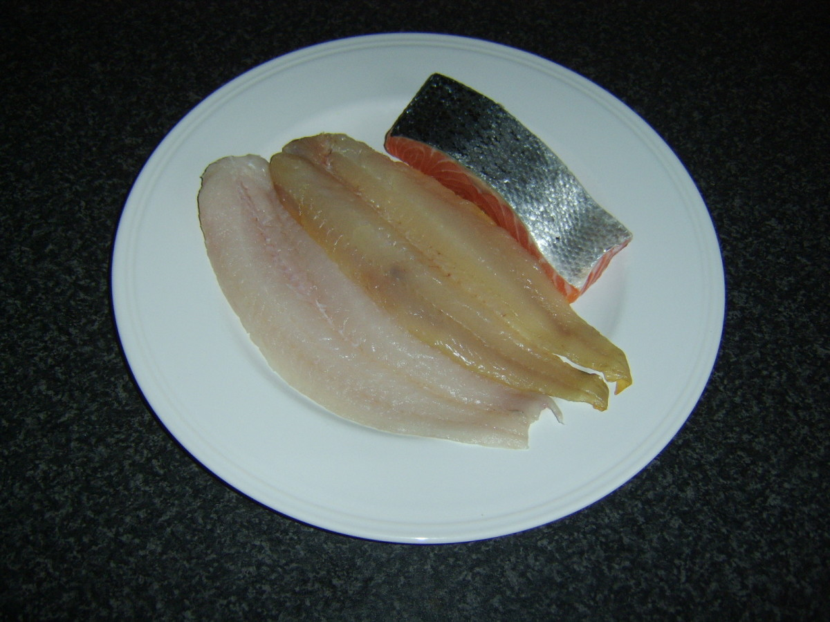 Whiting, smoked haddock and salmon for traditional fish pie