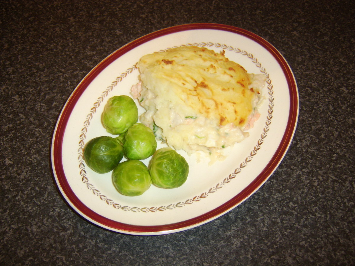 Brussels sprouts go very well served with a portion of traditional British fish pie