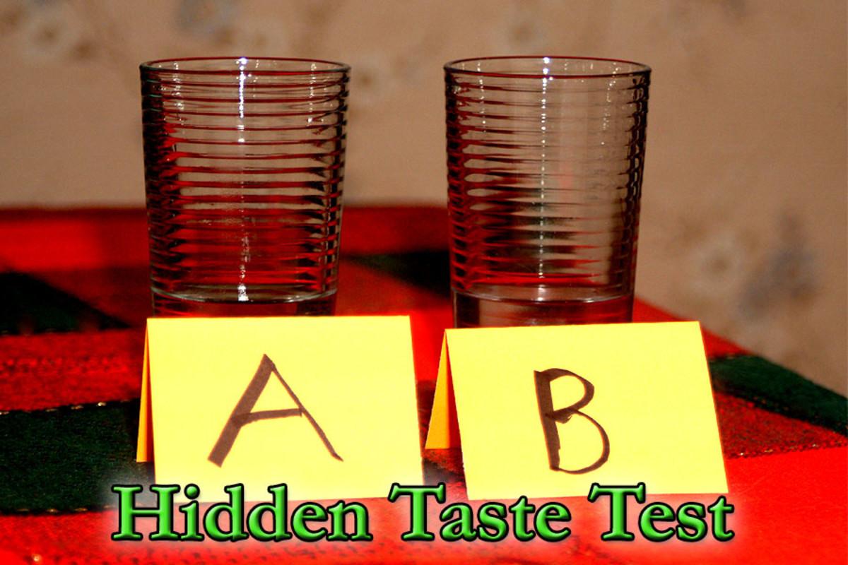 Hidden taste test