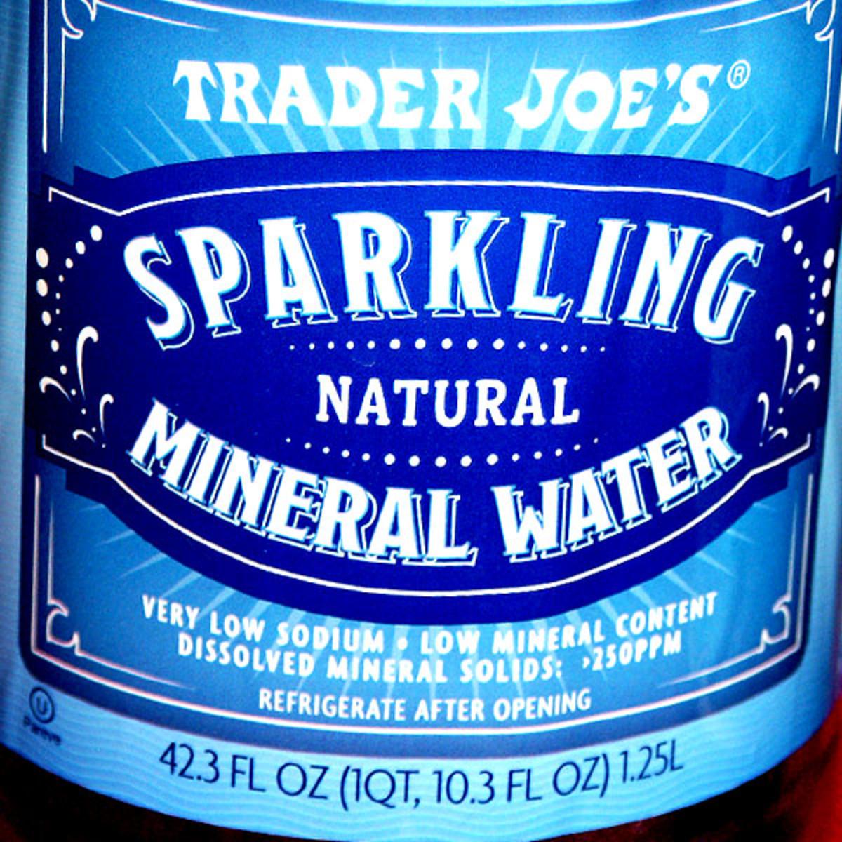 Trader Joe's sparkling mineral water label