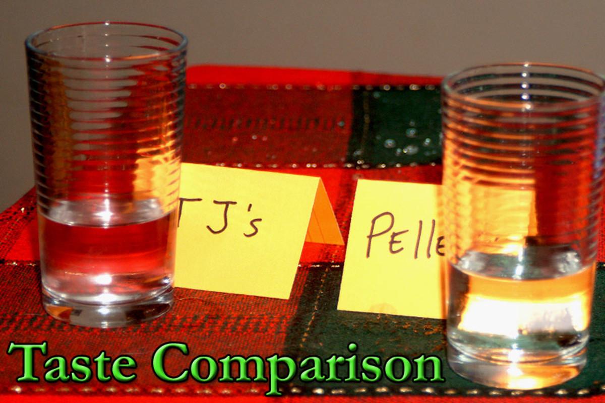 Sparkling bottle water taste comparison