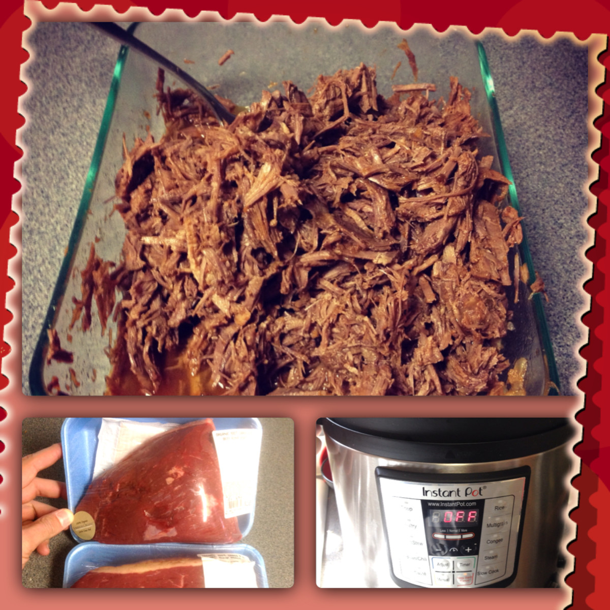 Instant Pot Electric Pressure Cooker Shredded Beef Recipe