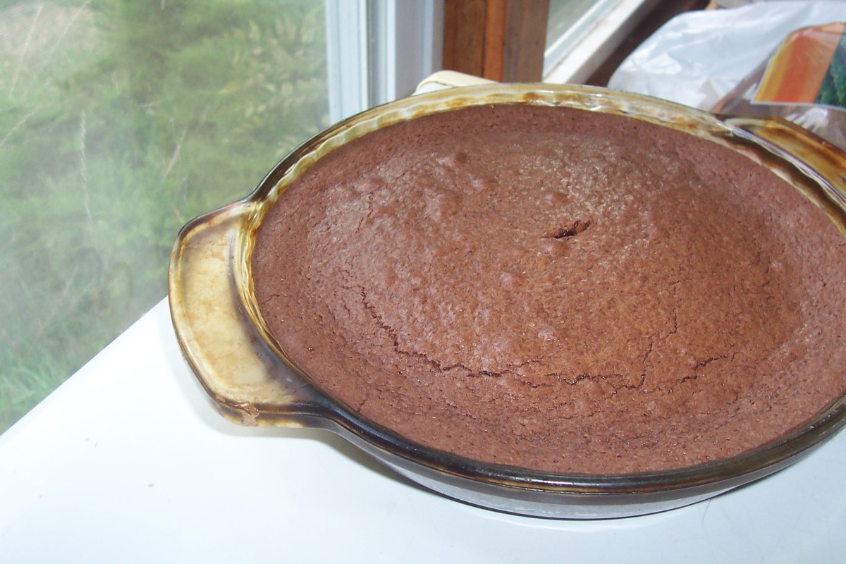 Our finished pan of chocolatey goodness.