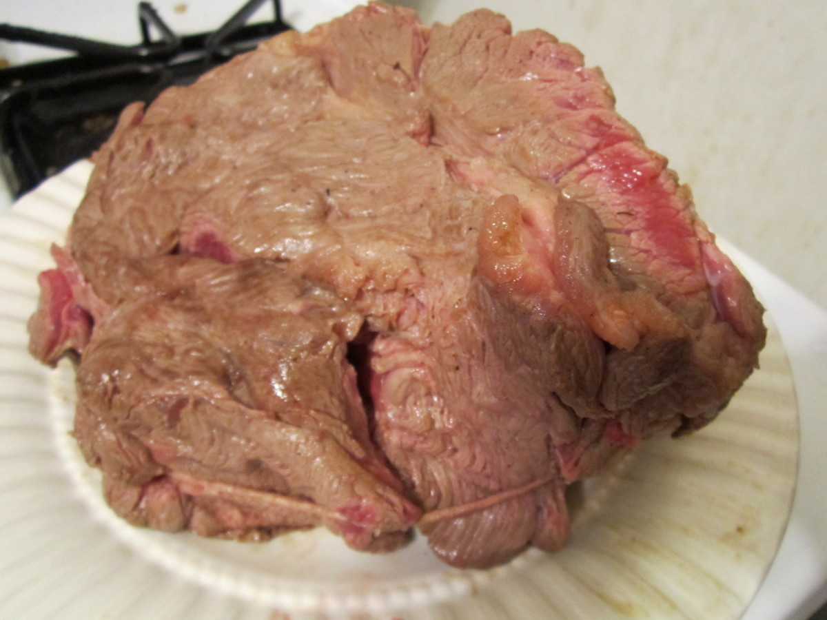 Pan-Seared (Browned) Beef Rump Roast on all sides before baking. Pot Roast Recipe Methods. .
