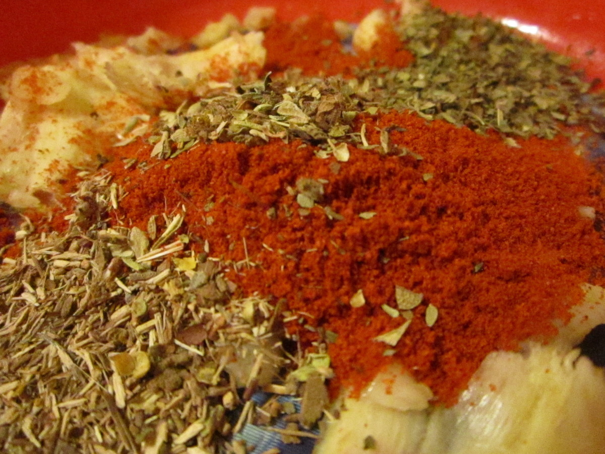 Paprika, Basil, Thyme, Oregano and Garlic Spice Mix for Pot Roast Recipe.