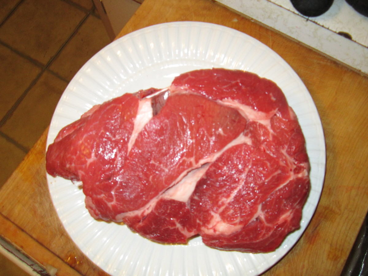 Fresh Beef Rump Roast (prior to cooking; raw)