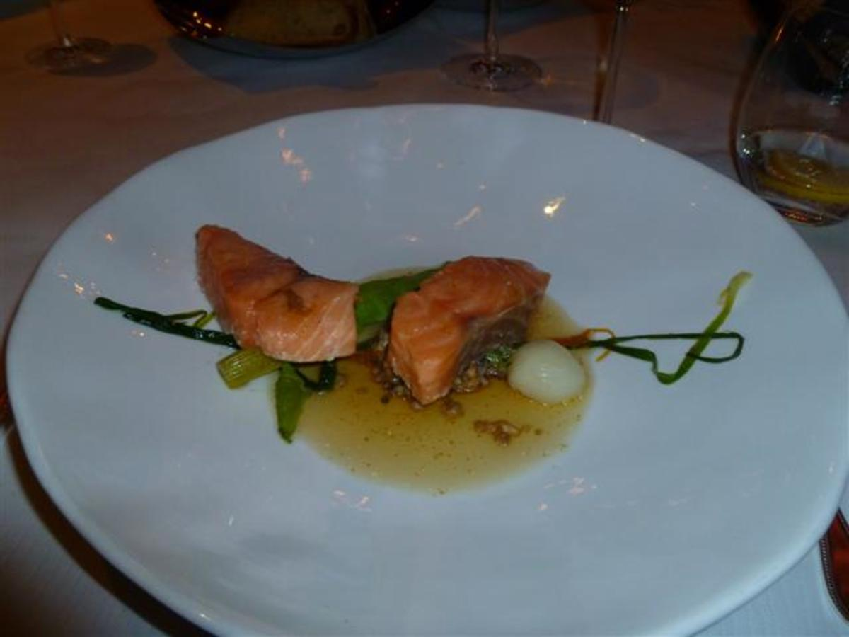 Fabulous salmon poached in olive oil