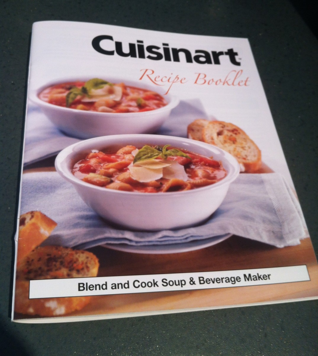 The recipe booklet that comes with the Cuisinart Blend and Cook Soup & Beverage Maker contains lots of healthy and delicious recipes.