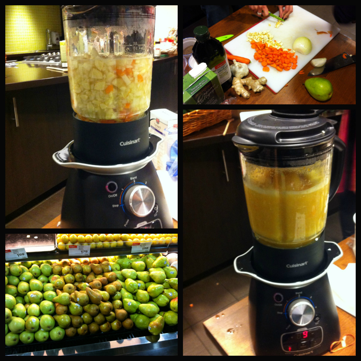 Photos from the Blissdom Canada Cuisinart Soup Challenge. Our team made a Carrot Parsnip Pear Ginger Soup.
