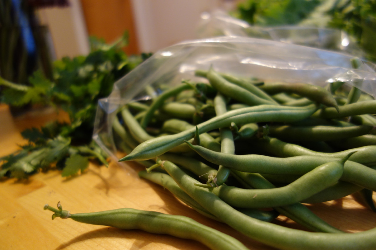 Sautéed string beans make my mom's menu.