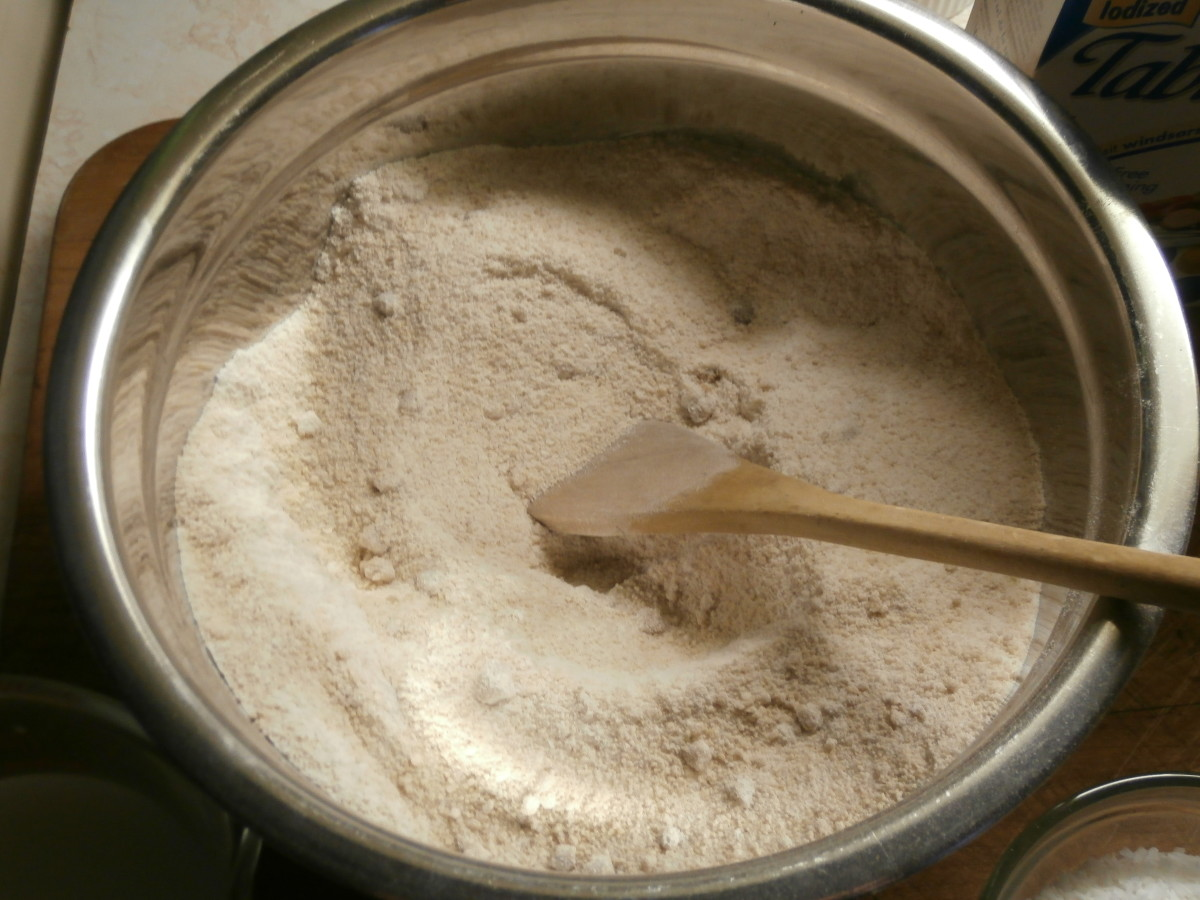 Combine brown sugar and flour.