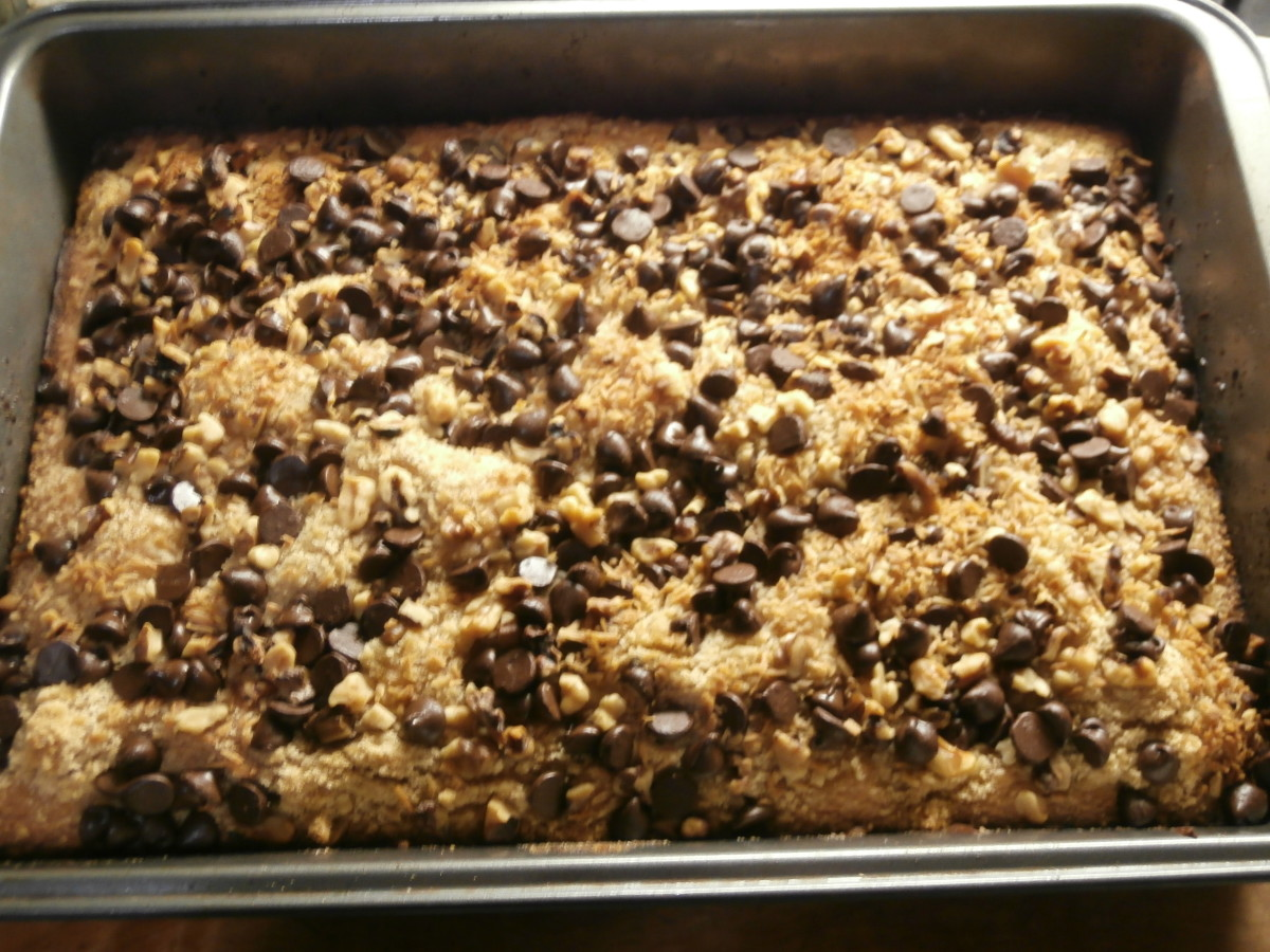 Toffee bars are baked. Cool completely before cutting.
