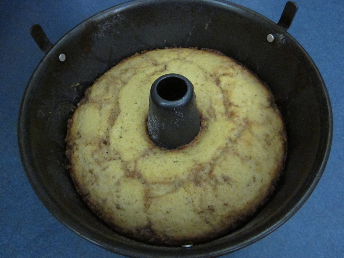 Step 7: How the cake should look right after it comes out of the oven.