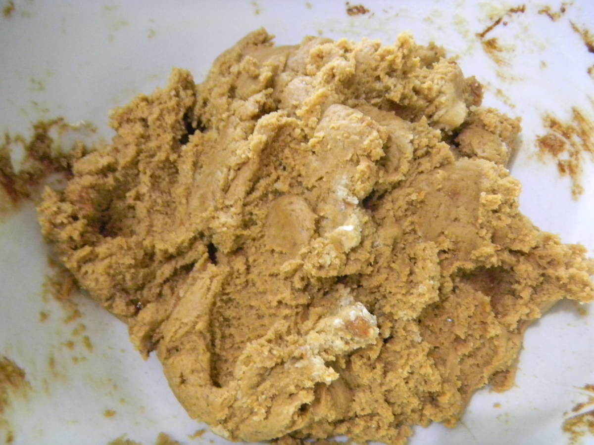 you can add ginger dough in pieces to ginger ice cream