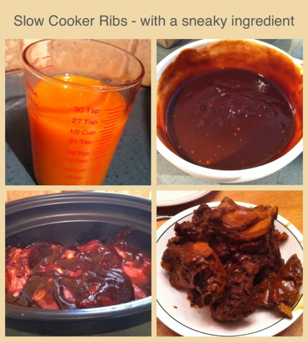 I made barbecue ribs in my slow cooker with a carrot puree in the sauce. They tasted delicious and no one suspected a thing.